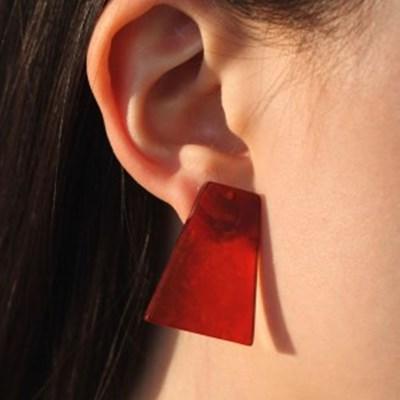 브라운 샐러드 귀걸이