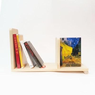 심플리 원목 북앤드책꽂이 WDA01 원목 책칸막이 책갈피 책장 책꽂이