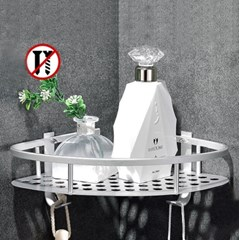 화장실 욕실코너선반 1단 철제 욕실선반 정리대