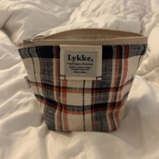 Lykke check pouch_Linen Fig