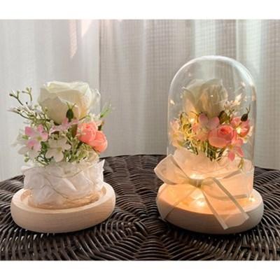 덩크리 장미 꽃꽂이 유리돔 무드등 만들기 키트(동영상 제공)
