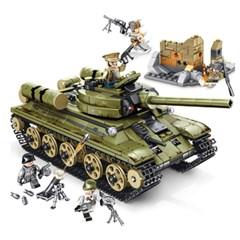 셈보블럭 중국호환레고 T34탱크 밀리터리 군인 미니피규어 101038