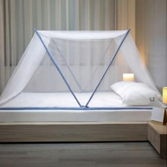 미우 원터치 튼튼한 모기장 침대 캐노피 원룸 방충망 고급형