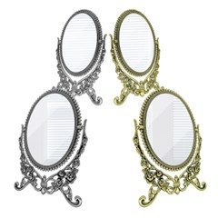스탠드형 장미 포인트 양면 탁상용 회전 보조 거울 모음