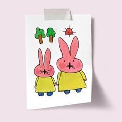 A3 포스터 - 핑크토끼(1)