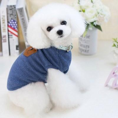 강아지 나시 민소매 레더포인트 강아지옷