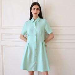 팬시 트위드 민트 셔츠 원피스 _ Fancy Tweed Mint OP