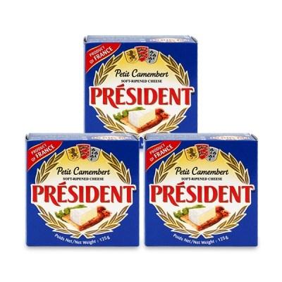 [프레지덩] 까망베르쁘띠 치즈 125g x 3개_(985101)