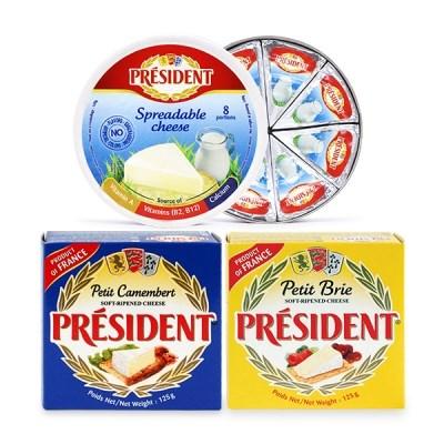 [프레지덩] 치즈 3종 (브리+까망베르+스프레더블 크림치즈_(985100)