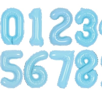 숫자은박풍선 대 블루 [0~9] 풍선만