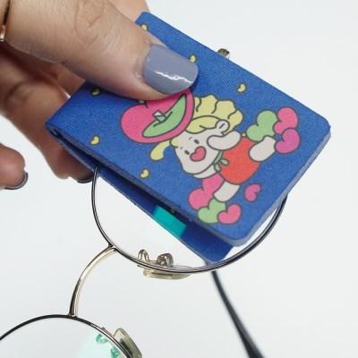 도도니 휴대용 초극세사 안경닦이 2P (보관 케이스 포함)