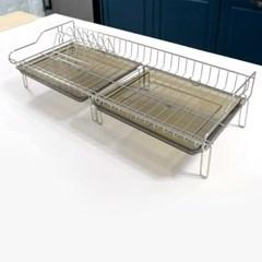 예쁜 주방 정리 필수템 스텐레스 와이드 식기건조대