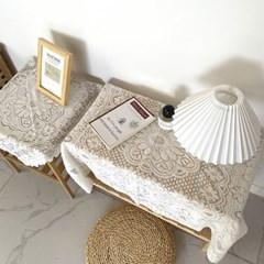 집드리 빈티지 홈카페 식탁보 테이블보 레이스천