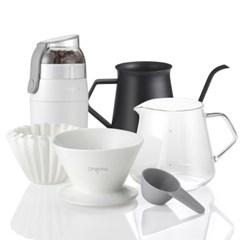 드립핑크 홈카페  커피 핸드드립 풀세트 A_(690308)