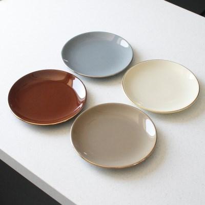 에크렌 골드 림(rim) 원형 접시 중 - 4color_(3188543)