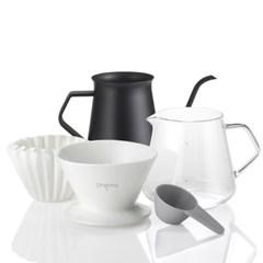 드립핑크 홈카페 커피핸드드립 350 포트 세트_(690307)