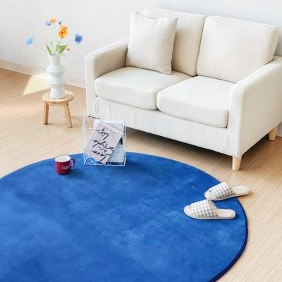 블루포인트 원형 사계절 거실 바닥 물세탁가능 러그 150cm