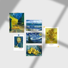 빈센트 반고흐 미니 포스터 2p + 엽서 10p 세트 (데코 스티커 포함)