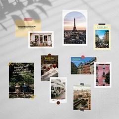 파리 라이프 감성 인테리어 포스터 & 엽서 10장 세트
