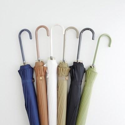 16K 자동 무지 파스텔 무채색 장우산 6color