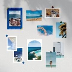 블루 썸머 여름 바다 인테리어 포스터 & 엽서 10장 세트