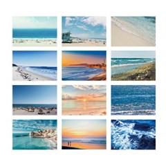 여름 바다 사진 엽서 12장 세트