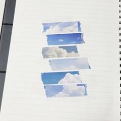 [본쥬흐네] 구름 마스킹테이프 15mm