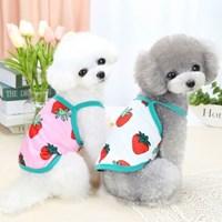 강아지 끈나시 민소매 시원한 여름옷 면티