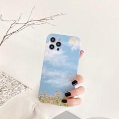 선샤인 스카이 아이폰 실리콘 유화 케이스