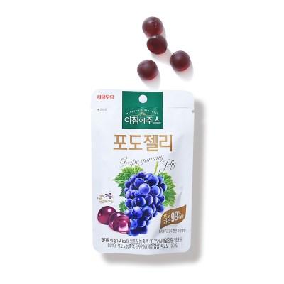 서울우유 아침에주스 포도젤리 45g 5개 과일제리 간식