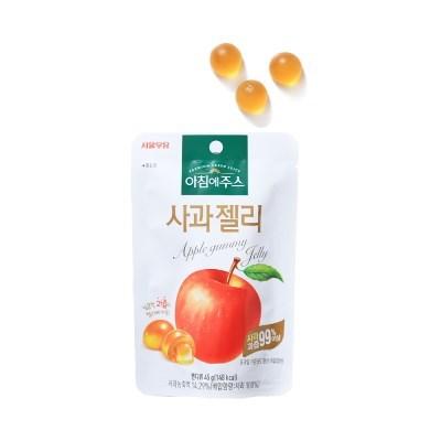 서울우유 아침에주스 사과젤리 45g 5개 과일제리 간식