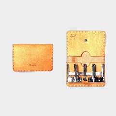 [주문제작]코인캐쳐 Natural - Pueblo Leather (무료각인)