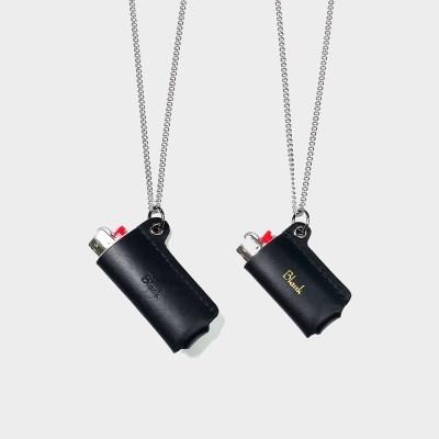 [주문제작]목걸이 라이터케이스 Black - Buttero Leather (무료각인)