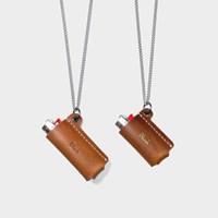 [주문제작]목걸이 라이터케이스 Tan - Buttero Leather (무료각인)