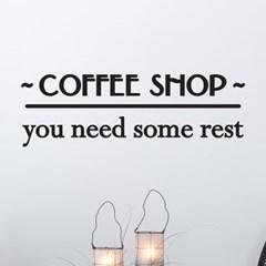 coffee shop 당신은 휴식이 필요해요 카페 레터링 스티커