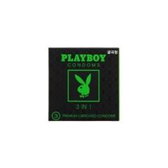 [플레이보이] 3IN1 콘돔 3P