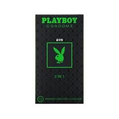[플레이보이] 3IN1 콘돔 12P