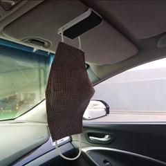 라이프존 자동차 선바이저 방향제 카드수납 마스크걸이 (네이비)