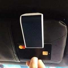 라이프존 자동차 선바이저 방향제 카드수납 마스크걸이 (블랙)
