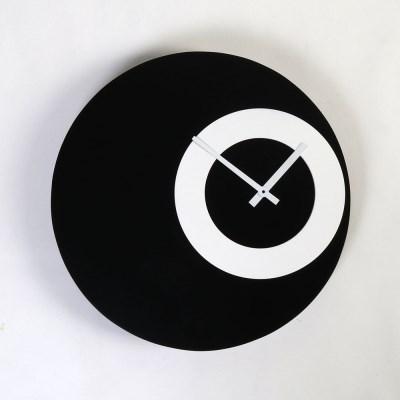 우드  서클인서클 디자인 저소음 벽시계 300-2색상 옵션