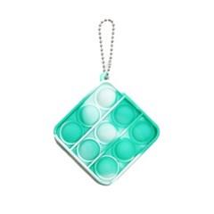 사각형 열쇠고리 푸시팝 팝잇 (1D)그린화이트