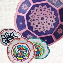 종이공예 한지 팔각접시 만들기(10set)