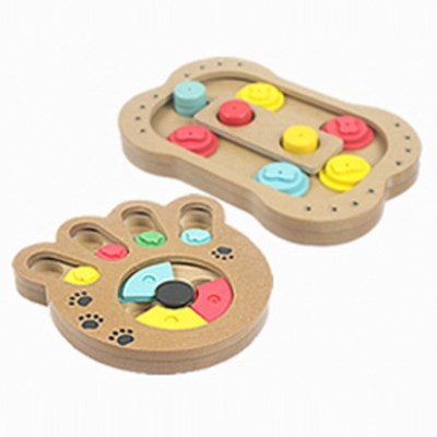 강아지 원목노즈워크 스트레스해소 간식놀이 퍼즐장난감