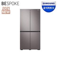 공식파트너 비스포크 냉장고 RF85A9103T1 브라우니시실버