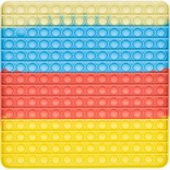파스텔 푸쉬 팝 버블 - 초대형 27 사각