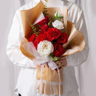 어버이날 카네이션 꽃다발 이벤트꽃 프리미엄믹스_(387270)