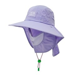 [캠핑/물놀이모자]자외선차단 UV 페이스 플랩캡_데이지퍼플