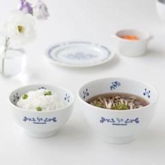 마메종 블루로즈 밥공기, 국그릇 2인세트