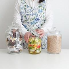 밀폐 글라스자 보관용기 쌀통잡곡통 캐니스터 3size
