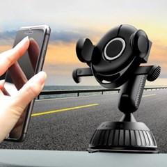 OMT 차량용 1초거치 원터치 휴대폰 거치대 강력흡착 이중잠금